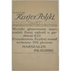 Kurjer Polski - Wybory Prezydenckie Nr 1, 31.05.1926
