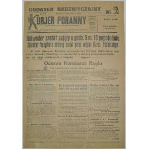 Kurjer Poranny - Zajęcie Belwederu, 14 Maja 1926 r.(2)