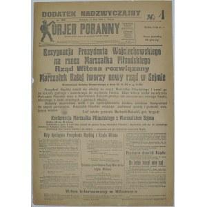Kurjer Poranny- Dymisje Prezydenta I Rządu, 15.05.1926