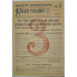 Kurjer Poranny - Wybory Prezydenckie (Nr 1), 31.05.1926