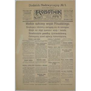 Robotnik - Sukcesy Piłsudskiego, 14 Maja 1926 r.