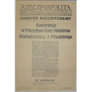 Rzeczpospolita - O Zgrom. Narodowym, 29.05.1926
