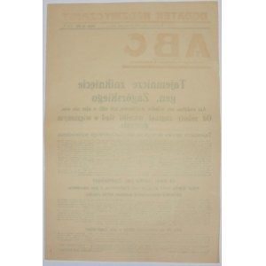 ABC - Zniknięcie Gen. Zagórskiego, 11 sierpnia 1927 r.