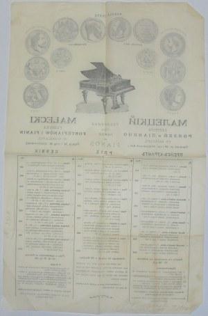 Małecki J. - Fortepiany I Pianina, W-Wa, 1908