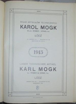 Mogk Karol - Art. Techniczne, Łódź,1915