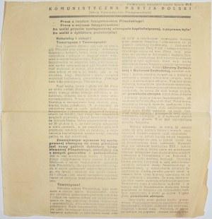 1930 - KPP - Precz z rządem faszystowskim