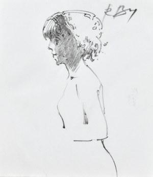 Roman BANASZEWSKI (1932-2021), Szkic kobiety z lewego profilu