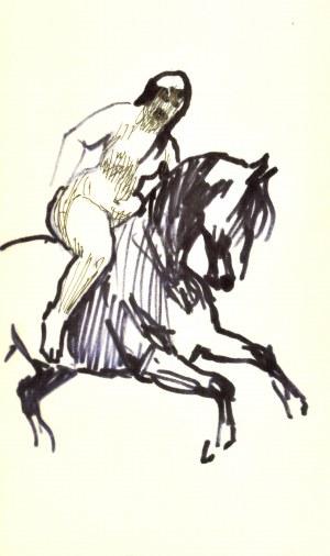 Ludwik MACIĄG (1920-2007), Naga kobieta na koniu