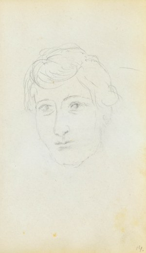Jacek MALCZEWSKI (1854-1929), Szkic twarzy młodego mężczyzny