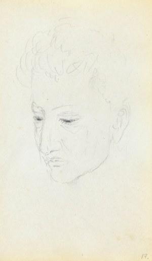 Jacek MALCZEWSKI (1854-1929), Szkic twarzy młodego mężczyzny z lewego trzy-czwarte