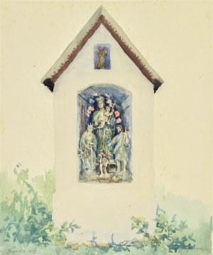 Józef PIENIĄŻEK (1888-1953), Kapliczka maryjna z Czarnego Potoku, 1933