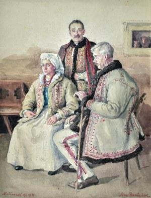 Józef PIENIĄŻEK (1888-1953), Rodzina z Niedźwiedzia, 1934