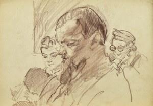 Kasper POCHWALSKI (1899-1971), W poczekalni nad lekturą, 1954