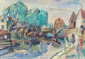 Epstein Henryk, PEJZAŻ Z ÉPERNON, RUE DE GRANDT PONT, OK 1941
