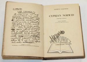 FALKOWSKI Zygmunt, Cyprjan Norwid.