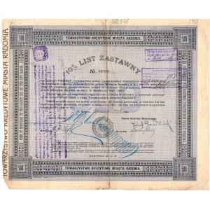 10% List Zastawny Towarzystwa Kredytowego Miasta Radomia - 500 złotych 1928