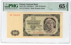 50 złotych 1948 - seria CU - PMG 65 EPQ