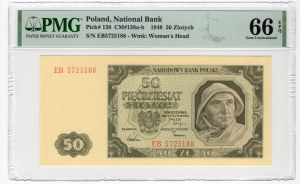 50 złotych 1948 - seria EB - PMG 66 EPQ