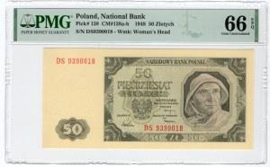 50 złotych 1948 - seria DS - PMG 66 EPQ