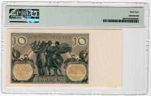 10 złotych 1929 - seria EI - PMG 64