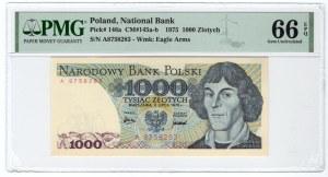 1.000 złotych 1975 - seria A - PMG 66 EPQ