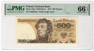 500 złotych 1974 - seria F - PMG 66 EPQ