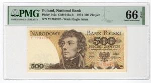 500 złotych 1974 - seria Y - PMG 66 EPQ