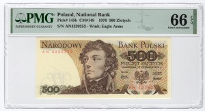 500 złotych 1976 - seria AN - PMG 66 EPQ