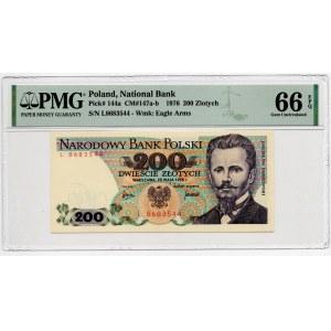 200 złotych 1976 - seria L - PMG 66 EPQ