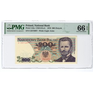 200 złotych 1976 - seria U - PMG 66 EPQ