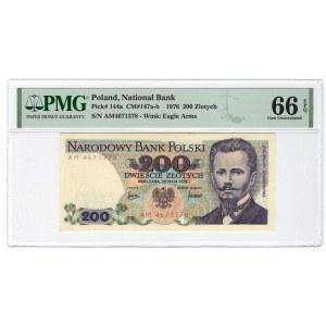 200 złotych 1976 - seria AM - PMG 66 EPQ