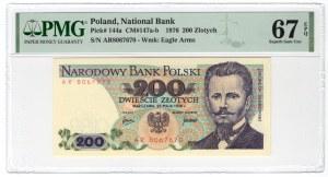 200 złotych 1976 - seria AR - PMG 67 EPQ