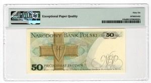 50 złotych 1975 - seria R - PMG 66 EPQ