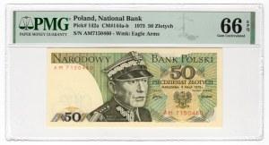 50 złotych 1975 - seria AM - PMG 66 EPQ