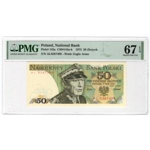 50 złotych 1975 - seria AL - PMG 67 EPQ