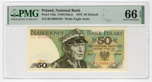 50 złotych 1975 - seria BC - PMG 66 EPQ