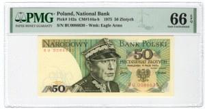 50 złotych 1975 - seria BU - PMG 66 EPQ