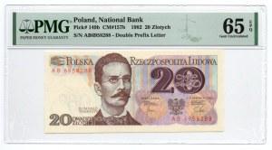 20 złotych 1982 - seria AB - PMG 65 EPQ