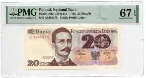 20 złotych 1982 - seria A - PMG 67 EPQ