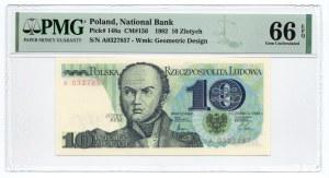 10 złotych 1982 - seria A - PMG 66 EPQ