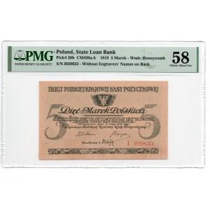 5 marek polskich 1919 - seria I - PMG 58