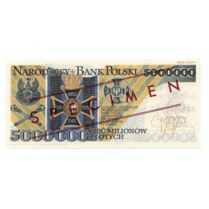 Wzór - 5.000.000 złotych 1995 - seria AA 0000000 - ARK