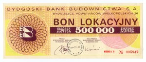 Bydgoski Bank Budownictwa S.A. - Bon Lokacyjny 500 000 złotych