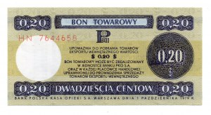 PEWEX - 20 centów 1979 - seria HN