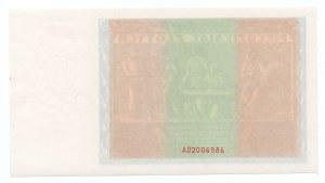 50 złotych 1936 - seria AD - awers bez druku głównego