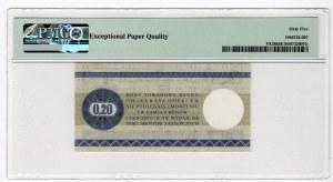 PEWEX - 20 centów 1979 - seria HN - PMG 65 EPQ