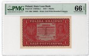 1 Marka 1919 - I Serja BK - PMG 66 EPQ