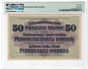 KOWNO - 50 marek 1928 - seria A - PMG 58 EPQ
