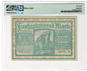 GDAŃSK / DANZIG - 50.000 marek 1923 - PMG 58