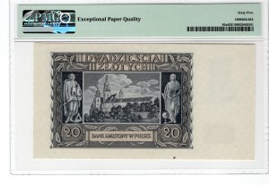20 złotych 1940 - seria N - PMG 65 EPQ